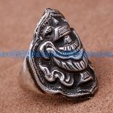 Tibetan Handmade Ring Tibetan Buddhist Babao Symbol Ring - Wishbop.com