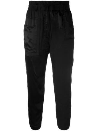women cotton black pants