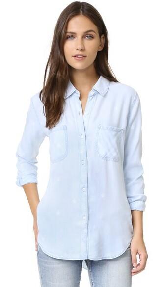 shirt button down shirt vintage light top