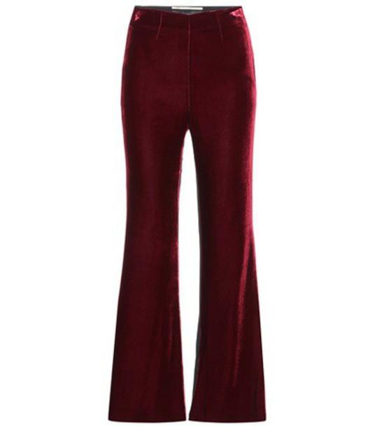 Roland Mouret velvet red pants