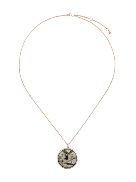 Astley Clarke rose gold rose women necklace pendant gold grey metallic jewels