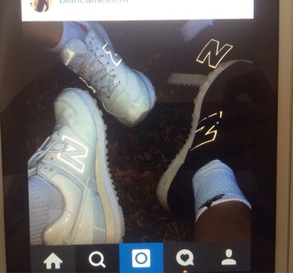shoes white white shoes sneakers shiny shiny sneakers sportswear new balance new balance sneakers sport shoes