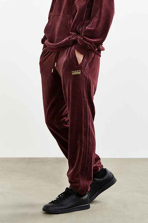 adidas Velour Cuffed Track Pant - Urban Outfitters