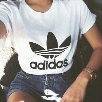 t-shirt adidas adidas wings ehite white t-shirt logo black dress hipster grunge brand