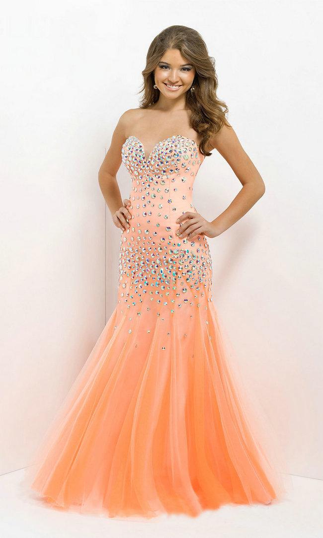 Vestido de festa tulle sweetheart sleeveless mermaid crystal sexy prom dresses 2014