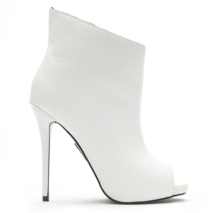 Lust for Life FAME Bootie in White Leather – FLYJANE