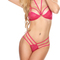 Avidlove women's sexy strappy lingerie set halter lace open cup bra babydoll