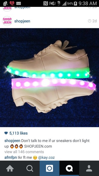 shoes light up light up shoes neon white