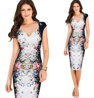 dress pencil dress bodycon dress elegant dress wear to work butterfly print office outfits aliexpress