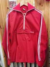 jacket,adidas,track top,tracksuit,vintage,retro,casual,half zip,sweatshirt,zip up