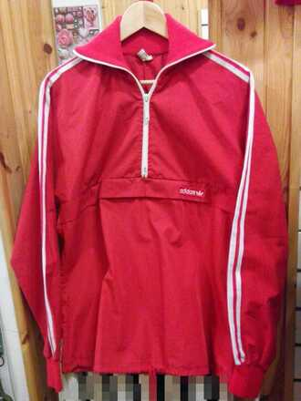 jacket adidas track top tracksuit vintage retro casual half zip sweatshirt zip up