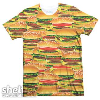 shelfies food hamburger t-shirt