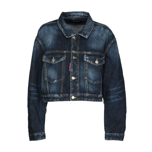 Dsquared2 jacket denim jacket denim cropped blue