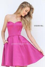 dress,homecoming dress,sherri hill,pink dress