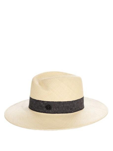 MAISON MICHEL Virginie straw hat in cream