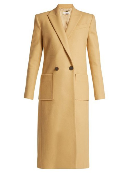 Givenchy - Double Breasted Wool Coat - Womens - Light Brown