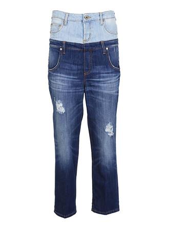 jeans denim layered