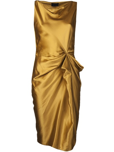 Lanvin Boat Neck Fitted Dress -  - Farfetch.com
