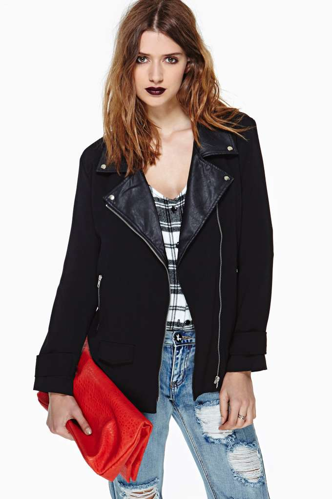 Eternal Moto Jacket in  Clothes Jackets   Coats at Nasty Gal