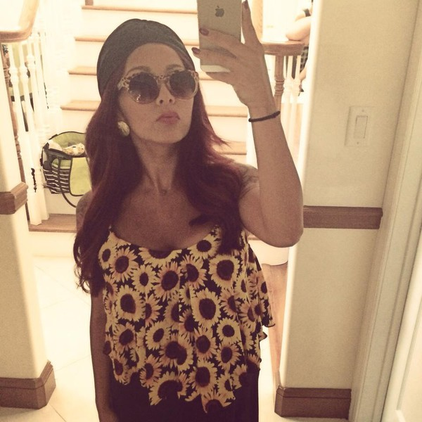 snooki nicole polizzi sunflower tank top summer outfits