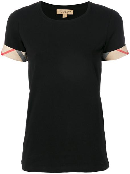 Burberry t-shirt shirt t-shirt women spandex cotton black top