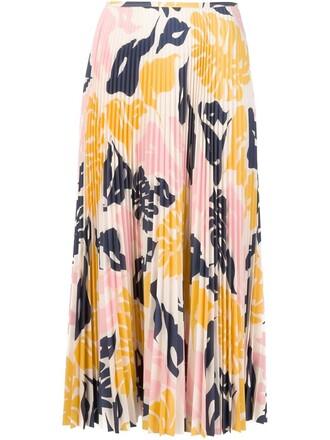 skirt pleated skirt pleated print white