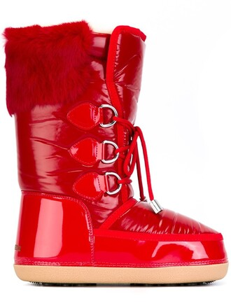 moon boots red shoes