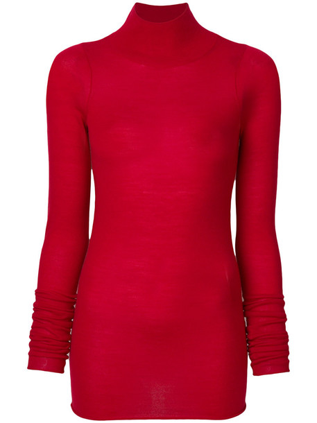 jumper turtleneck women red sweater