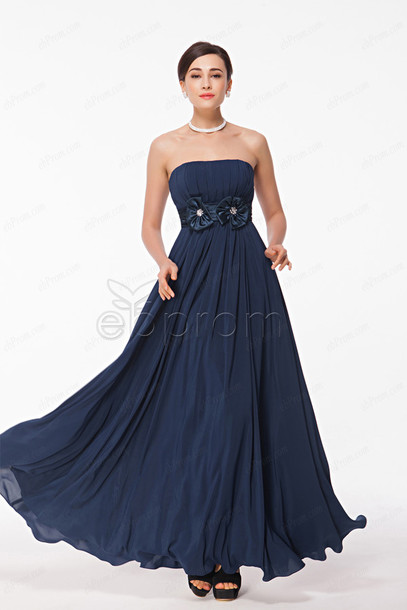 Dress Navy Long Prom Evening Bridesmaid