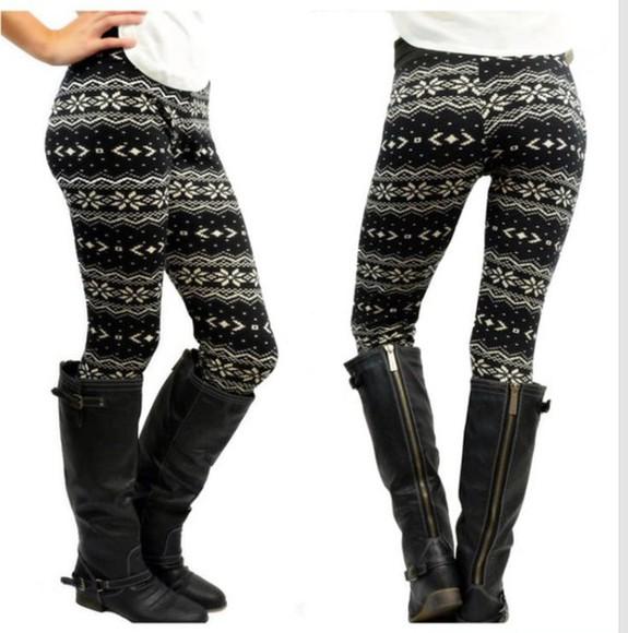 cute leggings black and white