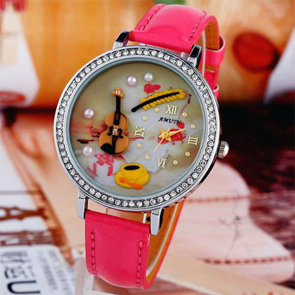 jewels watch cartoon roman rhinestones