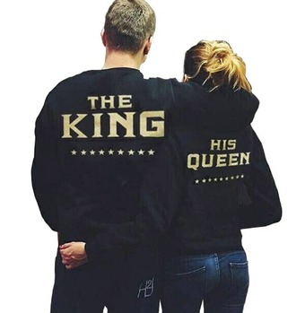 sweater gold crewneck couple sweaters printed sweater