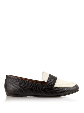 loafers leather white black shoes