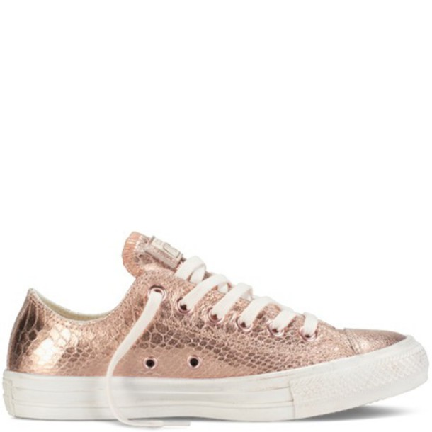 converse metallic rose