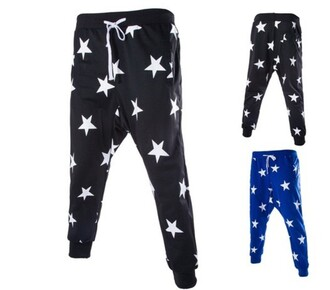 pants black baggy pants style sweatpants swag stars black pants