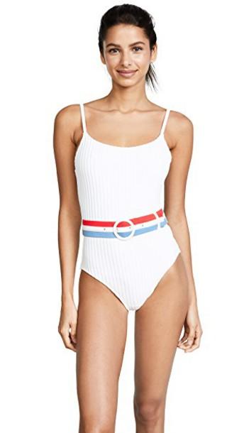 Solid & Striped one piece swimsuit cream swimwear