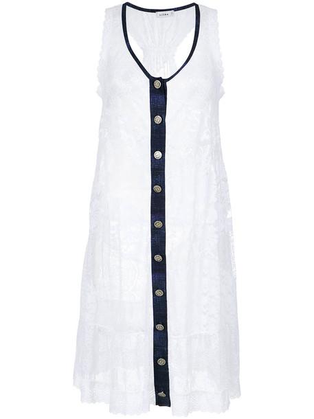 AMIR SLAMA dress beach dress beach women lace white