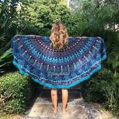 home accessory,beach,mandala roundies,mandala,blue,tapestry,magical thinking wall hanging,magic,wall handing,roundie mandala
