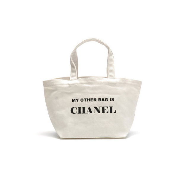 Jessica Kagan Cushman My Other Bag is Chanel Mini Tote - Polyvore