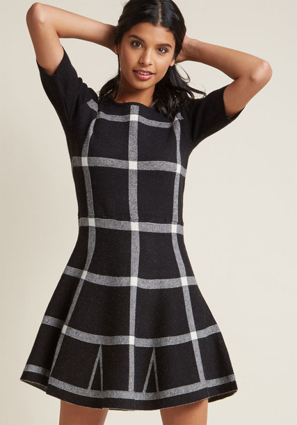 Modcloth dress sweater dress black
