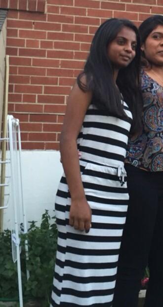 dress cotton black and white dress striped dress