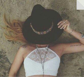 swimwear halter high neck bathers highneck crochet boho bathers boho bikini high neck hat