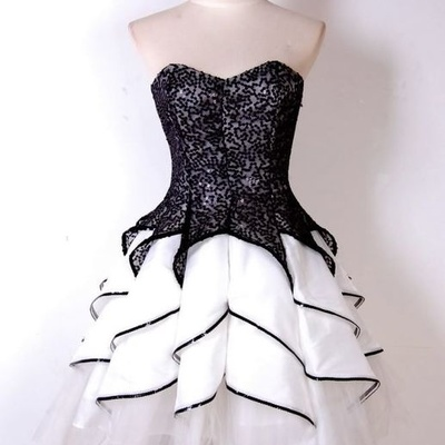 White Homecoming Dresses,Tulle Homecoming Dress,2 Pieces Prom Gown,Two Piece Cocktail Dresses