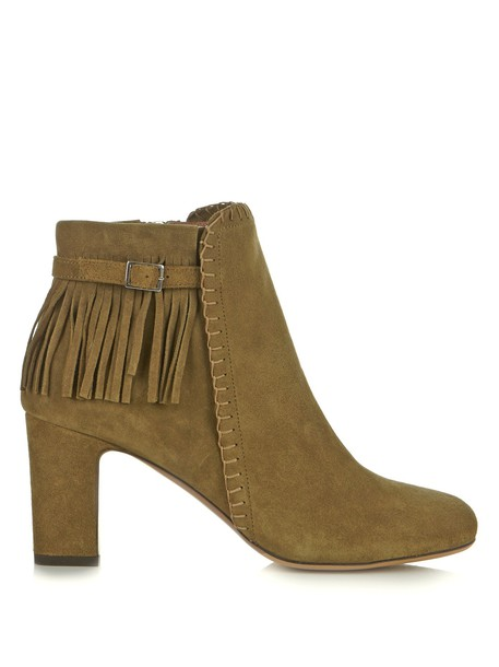 tabitha simmons suede boots suede khaki shoes