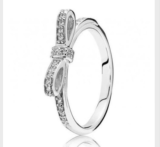 jewels ring bow dimonds