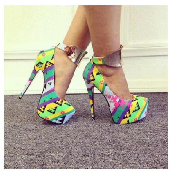 tribal pattern shoes
