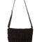 Black fringe purse - black leather purse - black suede handbag - fringe leather handbag - $59.00