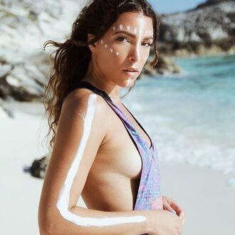 swimwear liberated heart printed swimwear