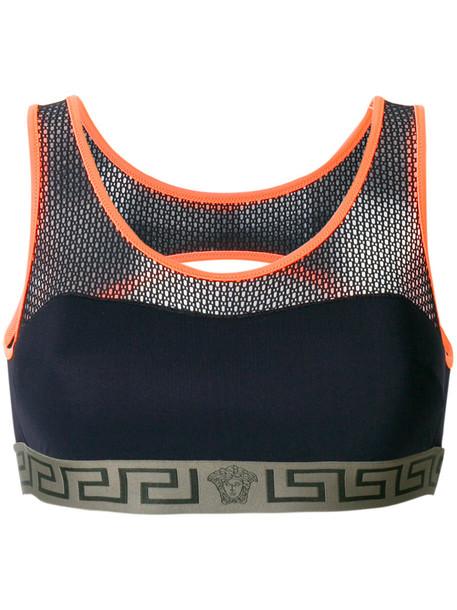 VERSACE bra sports bra women spandex black underwear