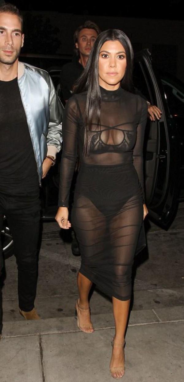 Dress Mesh Mesh Dress Kourtney Kardashian Mini Dress